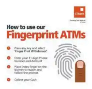 How To Use Fingerprint To Withdraw On GTBank