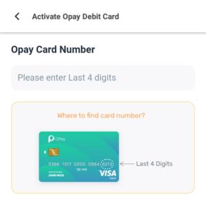 How To Activate Opay Debit Card